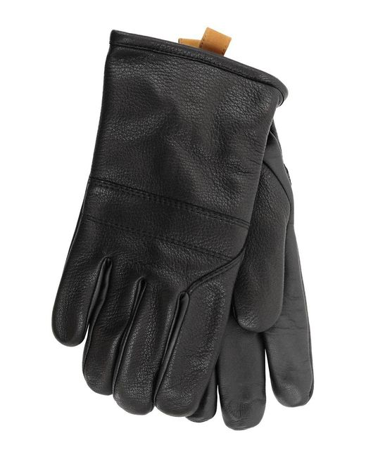 Ugg - Black Cordovan Shearling And Leather Gloves - Lyst