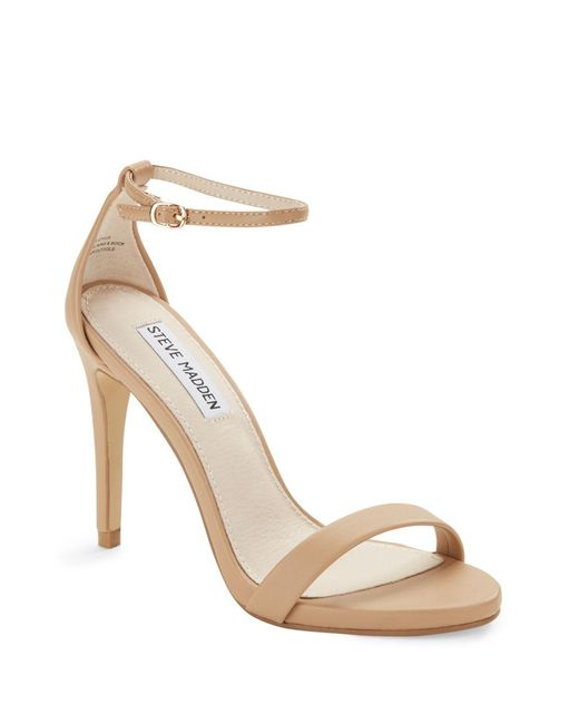 Steve Madden   Natural Stecy Strappy Sandals   Lyst