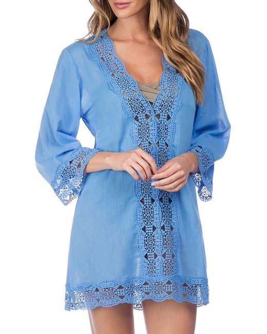 La Blanca | Blue Island Fare Cotton Tunic | Lyst