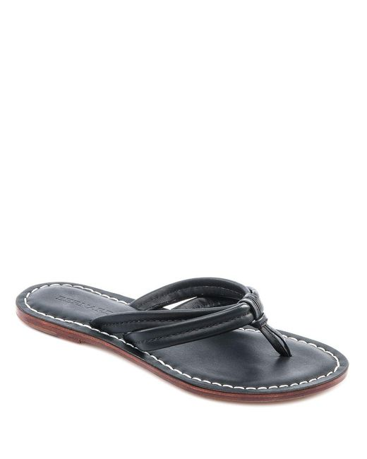 Bernardo - Black Miami Leather Thong Sandals - Lyst