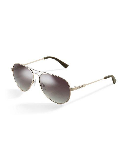 Guess - Metallic Classic Aviator Sunglasses - Lyst