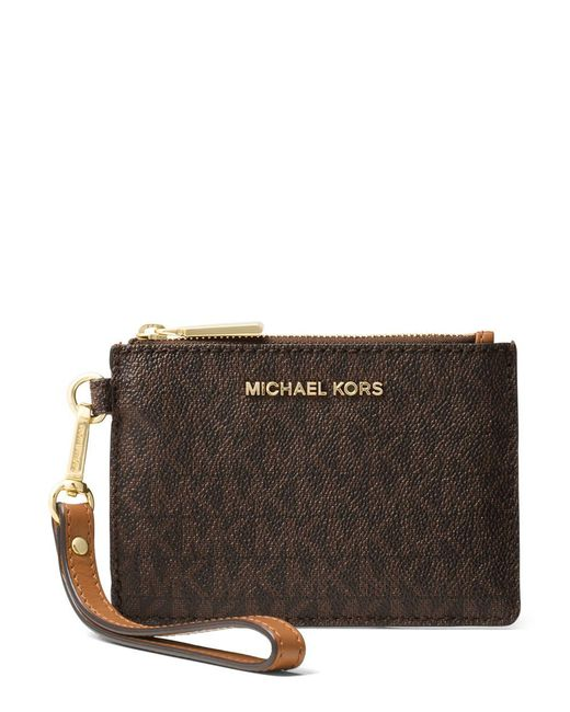 MICHAEL Michael Kors - Brown Mercer Signature Small Coin Purse - Lyst
