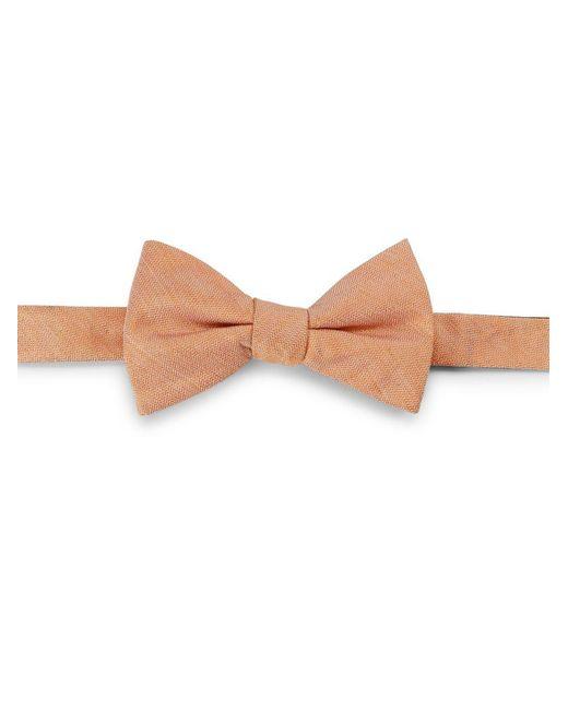 Cole Haan   Orange Silk-linen Bow Tie for Men   Lyst