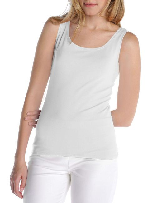 NIC+ZOE - White Perfect Stretch Tank - Lyst