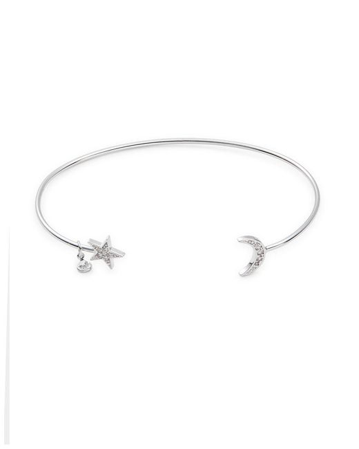 Tai - Metallic Pave Star And Moon Cuff Bracelet - Lyst