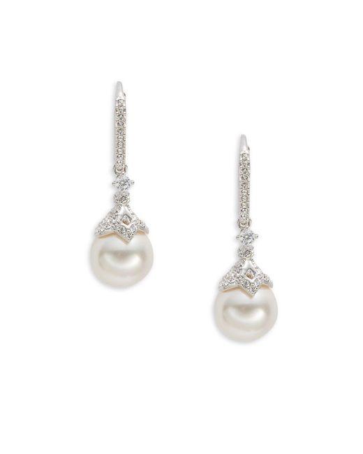 Nadri - Metallic Marion Faux Pearl Drop Earrings - Lyst