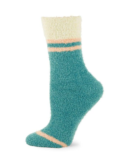 Free People - Blue Brushed Crew Socks - Lyst