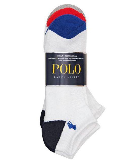 Polo Ralph Lauren | White Technical Sport Socks Set for Men | Lyst