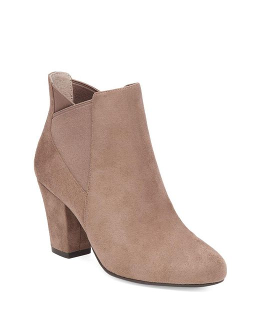 BCBGeneration - Brown Dolan Microsuede Booties - Lyst