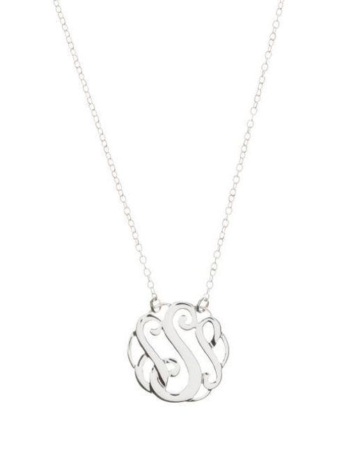 Lord & Taylor - Metallic Sterling Silver S Initial Pendant Necklace - Lyst