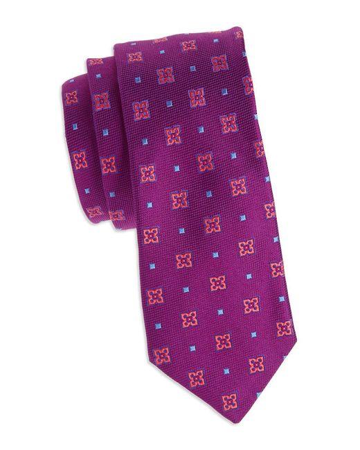 Ted Baker - Purple Textured Silk Tie for Men - Lyst