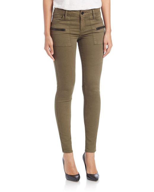 Sanctuary - Green Ace Utility Skinny Jeans - Lyst