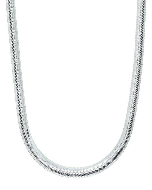 Lord & Taylor - Metallic Banded Sterling Silver Chain Necklace - Lyst