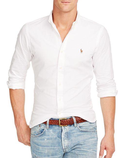 Polo Ralph Lauren - White Slim-fit Sportshirt for Men - Lyst