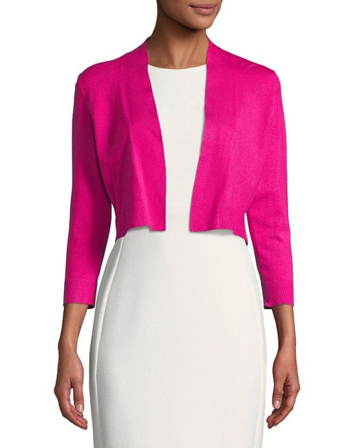 CALVIN KLEIN 205W39NYC - Pink Open-front Cardigan - Lyst