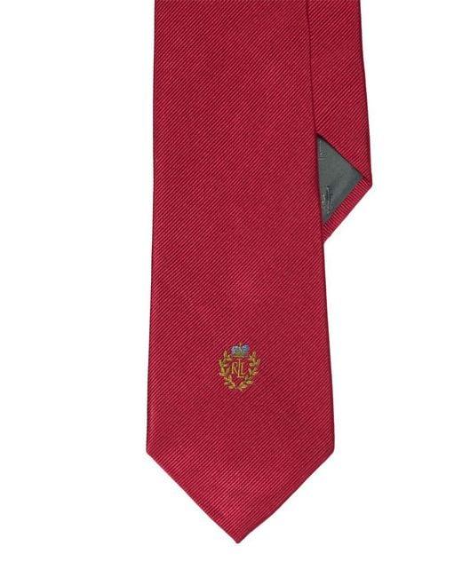 Lauren by Ralph Lauren - Red Signature Crest Silk Tie for Men - Lyst