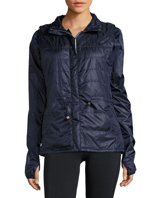 Nanette Lepore - Blue Packable Jacket And Vest Set - Lyst