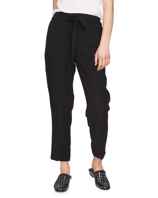 1.STATE - Black Flat-front Tapered-leg Pants - Lyst