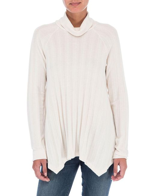 B Collection By Bobeau - White A-line Mockneck Sweater - Lyst