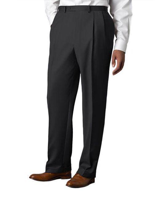 Lauren by Ralph Lauren - Gray Wool-cashmere-blend Cuffed Pants for Men - Lyst
