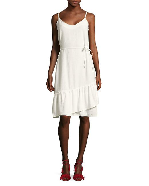 Vero Moda - White Self-tie Wrap-skirt Dress - Lyst