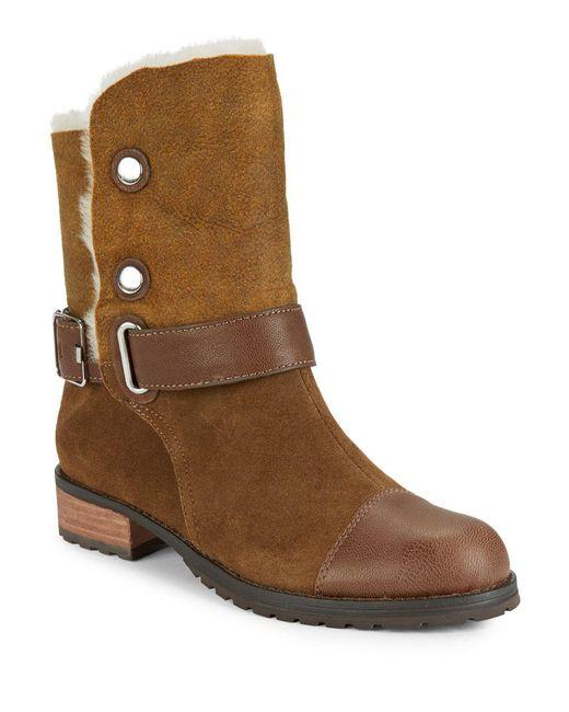 Matt Bernson - Brown Tundra Shearling-lined Ankle Boots - Lyst