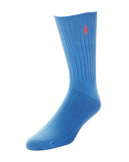 Polo Ralph Lauren - Blue Ribbed Socks for Men - Lyst