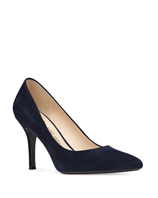 Nine West - Blue Fifth Patterned Stiletto Pumps - Lyst