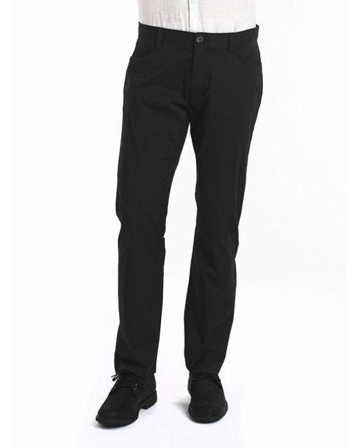 Calvin Klein   Black Four-pocket Sateen Pants for Men   Lyst