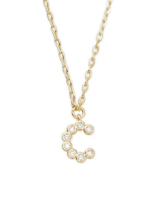 Kate Spade   Metallic One In A Million Crystal A Pendant Necklace   Lyst