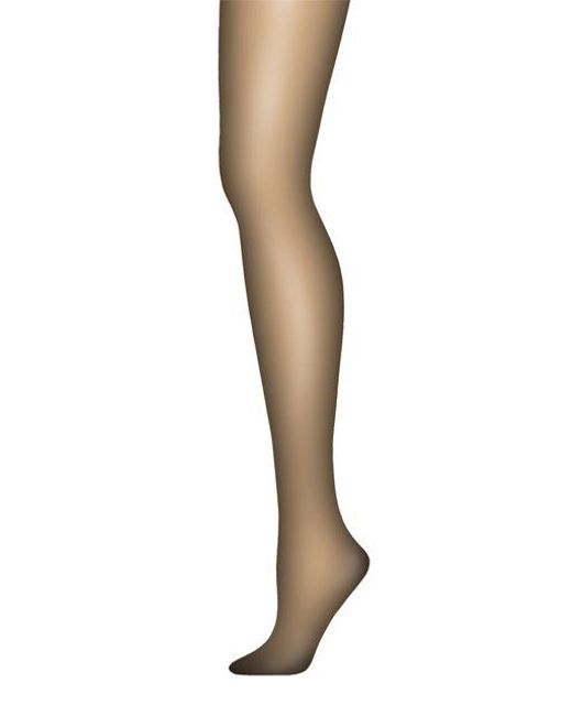 c1bc390abe90 Hanes - Black Silk Reflections Ultra Sheer Tights With Control Top - Lyst