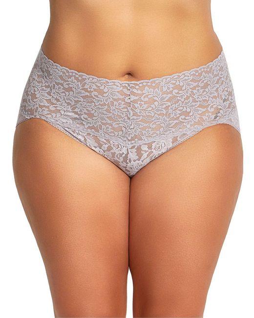 Hanky Panky - Gray Plus Size Retro Lace V-kini Panty - Lyst