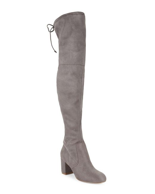 Charles David - Gray Owen Over-the-knee Boots - Lyst