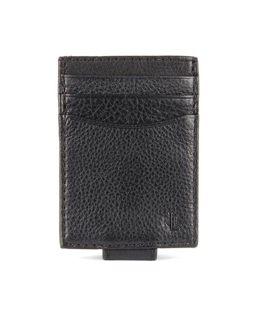 Lauren by Ralph Lauren - Black Oil-milled Leather Passcase Wallet for Men - Lyst