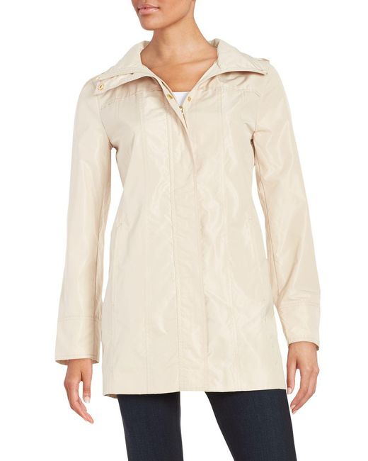 Ellen Tracy - Natural Packable Raincoat - Lyst