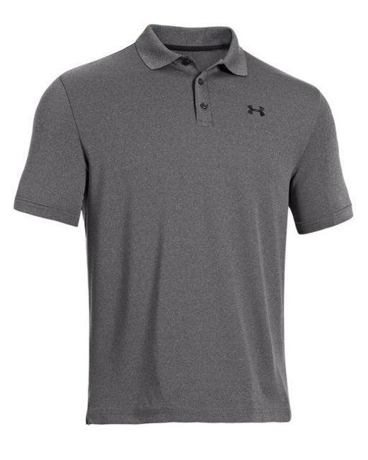 Under Armour - Gray Performance Polo for Men - Lyst