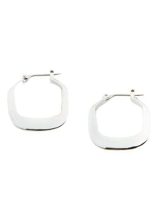 Kenneth Cole Gray Rectangle Hoop Earrings Lyst