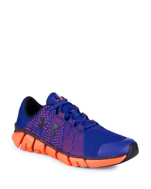 Under Armour - Blue Perforated Low Top Sneakers for Men - Lyst
