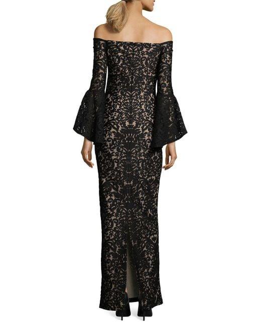 0ff15f57 ... Xscape - Black Off-the-shoulder Long Sheath Dress - Lyst ...