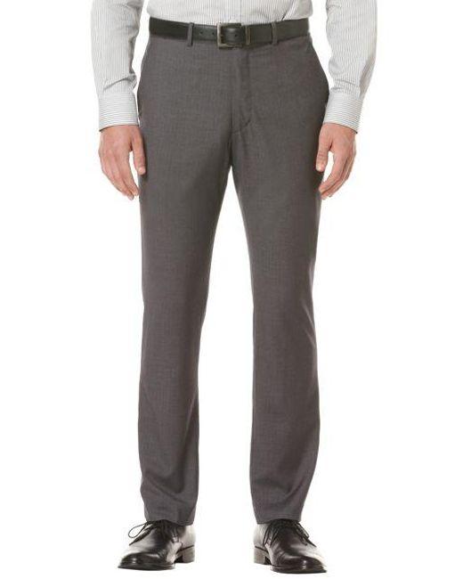 Perry Ellis | Gray Travel Luxe Slim-fit Dress Pants for Men | Lyst