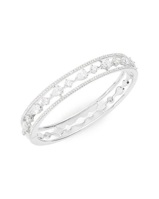 Nadri - Metallic Cubic Zirconia Bangle Bracelet - Lyst