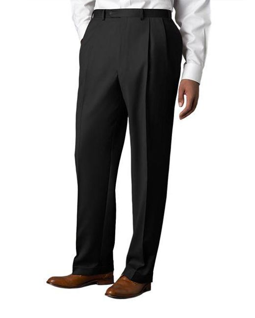 Lauren by Ralph Lauren | Black Wool-cashmere-blend Cuffed Pants for Men | Lyst