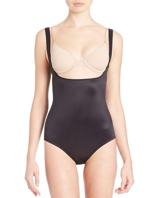 Tc Fine Intimates - Black Low-back Torsette Body Brief - Lyst