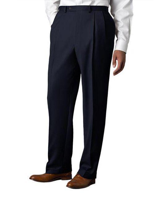 Lauren by Ralph Lauren - Blue Wool-cashmere-blend Cuffed Pants for Men - Lyst