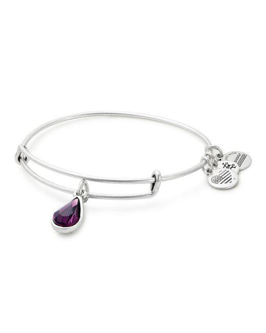 ALEX AND ANI - Purple Swarovski Amethyst Charm Bracelet - Lyst