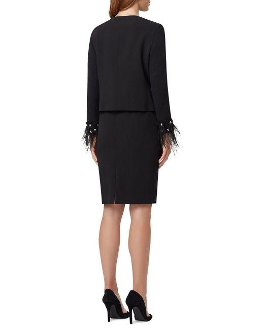 d563992a50c37 ... Tahari - Black Petite Embellished Cuff Skirt Suit - Lyst