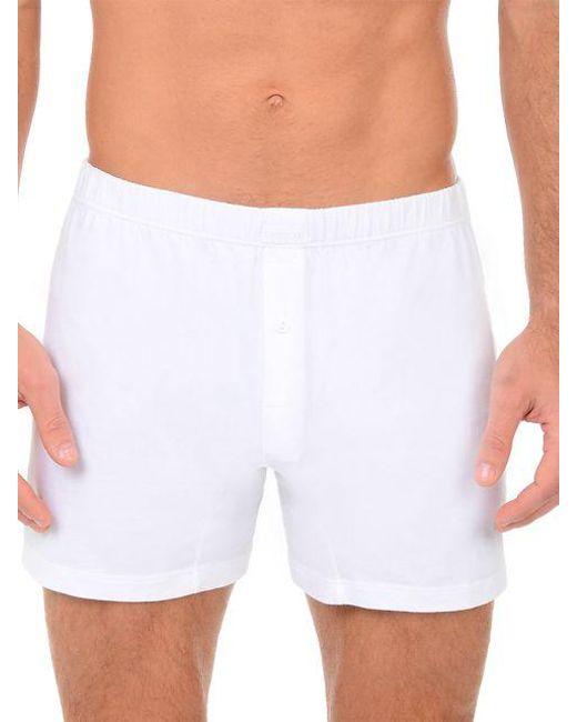 2xist - White Pima Cotton Boxers for Men - Lyst