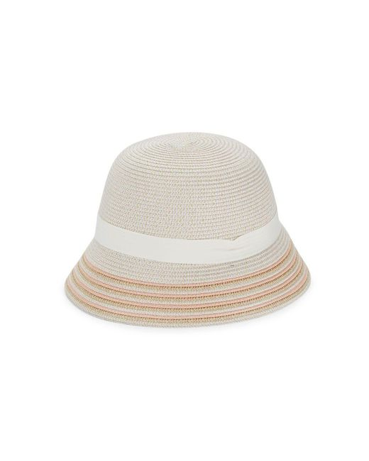 Lyst - Betmar Tricia Cloche Hat in Natural 818f9ef0149b