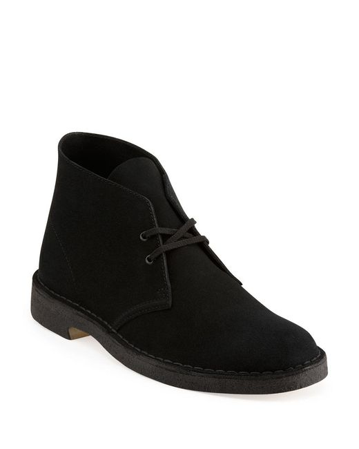 Clarks - Black Desert Suede Chukka Boots for Men - Lyst