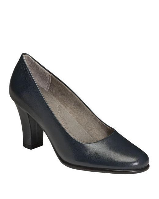 Aerosoles | Blue Dolled Up Leather Pumps | Lyst